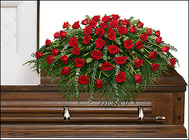 MAJESTIC RED CASKET SPRAY from Flowers by Ramon of Lawton, OK