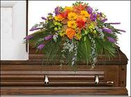 RADIANT MEDLEY CASKET SPRAY from Flowers by Ramon of Lawton, OK