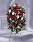 Crimson & White Standing Spray from Flowers by Ramon of Lawton, OK