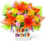 The FTD Birthday Celebration Bouquet from Flowers by Ramon of Lawton, OK