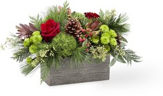 The FTD Christmas Cabin Bouquet from Flowers by Ramon of Lawton, OK
