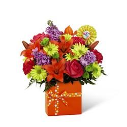 The FTD Set to Celebrate Birthday Bouquet from Flowers by Ramon of Lawton, OK