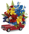 Teleflora's '65 Ford Mustang Bouquet  from Flowers by Ramon of Lawton, OK