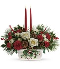 Teleflora's Halls Of Holly Centerpiece from Flowers by Ramon of Lawton, OK