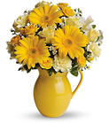 Teleflora's Sunny Day Pitcher of Cheer from Flowers by Ramon of Lawton, OK