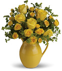 Teleflora's Sunny Day Pitcher of Roses from Flowers by Ramon of Lawton, OK