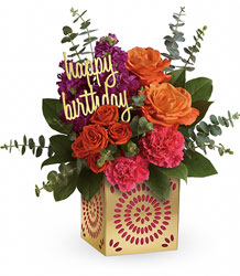 Teleflora's Birthday Sparkle Bouquet from Flowers by Ramon of Lawton, OK