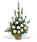 White Simplicity Basket from Flowers by Ramon of Lawton, OK